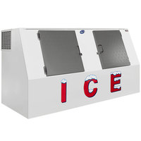 Leer LP612A 94 inch Outdoor Auto Defrost Ice Merchandiser with Slanted Front and Stainless Steel Doors