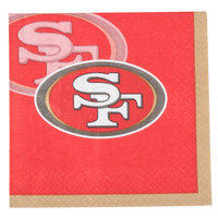 Creative Converting 659527 San Francisco 49ers 2-Ply Beverage Napkin - 192/Case