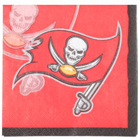 Creative Converting 659530 Tampa Bay Buccaneers 2-Ply Beverage Napkin - 192/Case