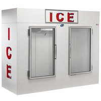 Leer 100CG 94 inch Indoor Cold Wall Ice Merchandiser with Straight Front and Glass Doors
