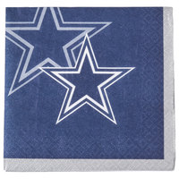 Creative Converting 659509 Dallas Cowboys 2-Ply Beverage Napkin - 192/Case