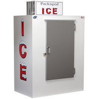 Leer 40CS 51 inch Outdoor Cold Wall Ice Merchandiser with Straight Front and Stainless Steel Door