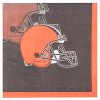 Creative Converting 316646 Cleveland Browns 2-Ply Beverage Napkin - 192/Case