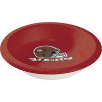 Creative Converting 179527 San Francisco 49ers 20 oz. Paper Bowl - 96/Case