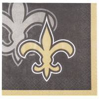 Creative Converting 659520 New Orleans Saints 2-Ply Beverage Napkin - 192/Case