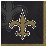Creative Converting 659520 New Orleans Saints 2-Ply Beverage Napkin - 192/Case