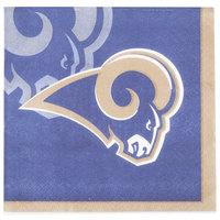 Creative Converting 659529 Los Angeles Rams 2-Ply Beverage Napkin - 192/Case
