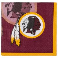 Creative Converting 335911 Washington Redskins 2-Ply Beverage Napkin - 192/Case