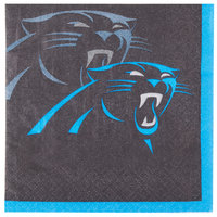 Creative Converting 659505 Carolina Panthers 2-Ply Beverage Napkin - 192/Case