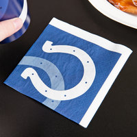 Creative Converting 659534 Indianapolis Colts 2-Ply Beverage Napkin - 192/Case