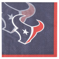 Creative Converting 659513 Houston Texans 2-Ply Beverage Napkin - 192/Case