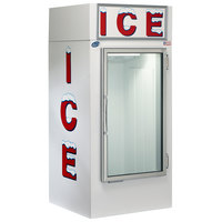 Leer 30CG 36 inch Indoor Cold Wall Ice Merchandiser with Straight Front and Glass Door