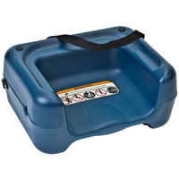 Koala Kare KB854-04S Blue Plastic Booster Seat with Safety Strap - Dual Height