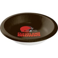 Creative Converting 316653 Cleveland Browns 20 oz. Paper Bowl   - 96/Case