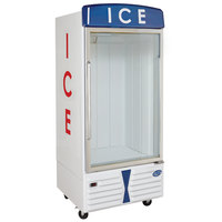Leer 30AD-FGF 36 inch Indoor Auto Defrost Ice Merchandiser with Straight Front and Glass Door