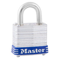 Master Lock 7D 1 1/8 inch Silver / Blue Four-Pin Steel Tumbler Lock
