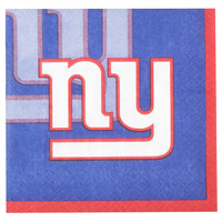 Creative Converting 659521 New York Giants 2-Ply Beverage Napkin - 192/Case