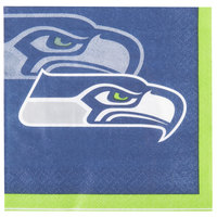 Creative Converting 659528 Seattle Seahawks 2-Ply Beverage Napkin - 192/Case