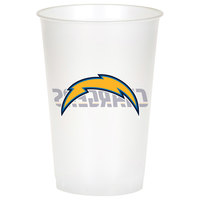 Creative Converting 019526 Los Angeles Chargers 20 oz. Plastic Cup - 96/Case