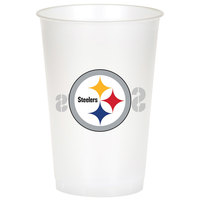 Creative Converting 019525 Pittsburgh Steelers 20 oz. Plastic Cup - 96/Case