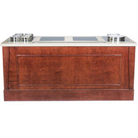 Bon Chef 50098 72 inch x 30 inch x 34 inch Wood Buffet with 2 Induction Ranges / Downdraft Vent - 120V