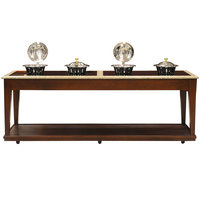 Bon Chef 50121-1 96 inch x 34 inch x 36 inch Contemporary Wood Buffet with 4 Induction Ranges - 110V