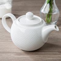 Villeroy & Boch 16-2155-0530 Easy White 13.5 oz. White Porcelain Teapot - 6/Case