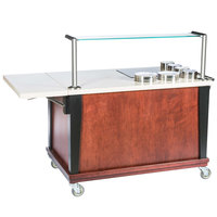 Bon Chef 50046 54 1/2 inch x 30 inch x 49 inch Mobile Wood Induction Action Cart - 120V