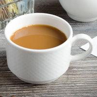 Villeroy & Boch 16-2155-1271 Easy White 7.5 oz. White Porcelain Stackable Cup - 6/Case