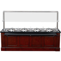 Bon Chef 50102 96 inch x 30 inch x 66 inch Wood Buffet with 4 Chafers and 4 Induction Warmers - 110V