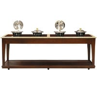 Bon Chef 50121 96 inch x 34 inch x 36 inch Contemporary Wood Buffet with 4 Induction Ranges - 110V