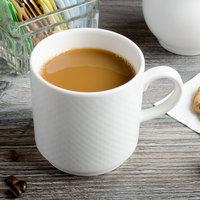 Villeroy & Boch 16-2155-4879 Easy White 9 oz. White Porcelain Stackable Mug with Handle - 6/Case