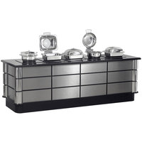 Bon Chef 50158 96 inch x 30 inch x 34 inch Stainless Steel Contemporary Buffet with 5 Induction Ranges - 110V