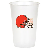 Creative Converting 316649 Cleveland Browns 20 oz. Plastic Cup - 96/Case