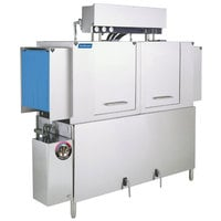 Jackson AJ-64 Dual Tank High Temperature Conveyor Dishmachine with Gas Tank Heater - Right to Left, 208V, 1 Phase