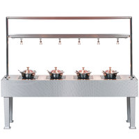 Bon Chef 50117 96 inch x 24 inch x 78 inch Stainless Steel Table with 4 Induction Warmers - 110V