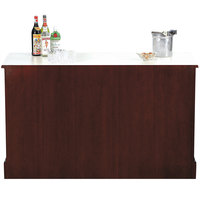 Bon Chef 51004 61 inch x 25 1/4 inch x 36 inch Wood Back Bar