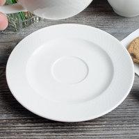 Villeroy & Boch 16-2155-1250 Easy White 6 3/4 inch White Porcelain Saucer - 6/Case