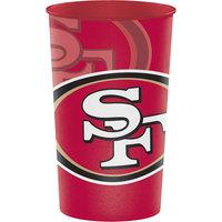 Creative Converting 119527 San Francisco 49ers 22 oz. Plastic Souvenir Cup - 20/Case