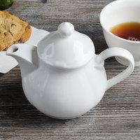 Villeroy & Boch 16-3318-0530 La Scala 13.5 oz. White Porcelain Teapot - 6/Case