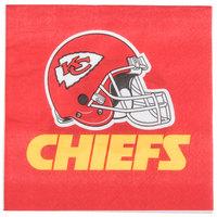 Creative Converting 669516 Kansas City Chiefs 2-Ply Luncheon Napkin - 192/Case