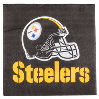 Creative Converting 669525 Pittsburgh Steelers 2-Ply Luncheon Napkin - 192/Case