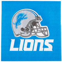 Creative Converting 669511 Detroit Lions 2-Ply Luncheon Napkin - 192/Case