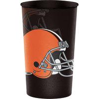 Creative Converting 316650 Cleveland Browns 22 oz. Plastic Souvenir Cup   - 20/Case