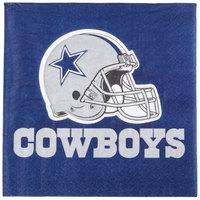 Creative Converting 669509 Dallas Cowboys 2-Ply Luncheon Napkin - 192/Case