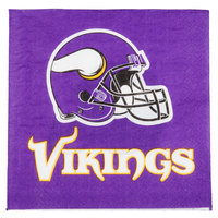Creative Converting 669518 Minnesota Vikings 2-Ply Luncheon Napkin - 192/Case