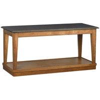 Bon Chef 4RSTRE-AE 30 inch x 72 inch Rectangular Espresso Wooden Banquet Table with Dark Maple Finish