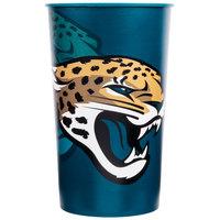 Creative Converting 119515 Jacksonville Jaguars 22 oz. Plastic Souvenir Cup - 20/Case
