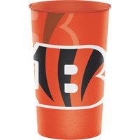 Creative Converting 119507 Cincinnati Bengals 22 oz. Plastic Souvenir Cup - 20/Case