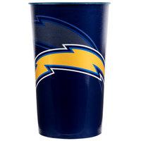 Creative Converting 119526 Los Angeles Chargers 22 oz. Plastic Souvenir Cup - 20/Case
